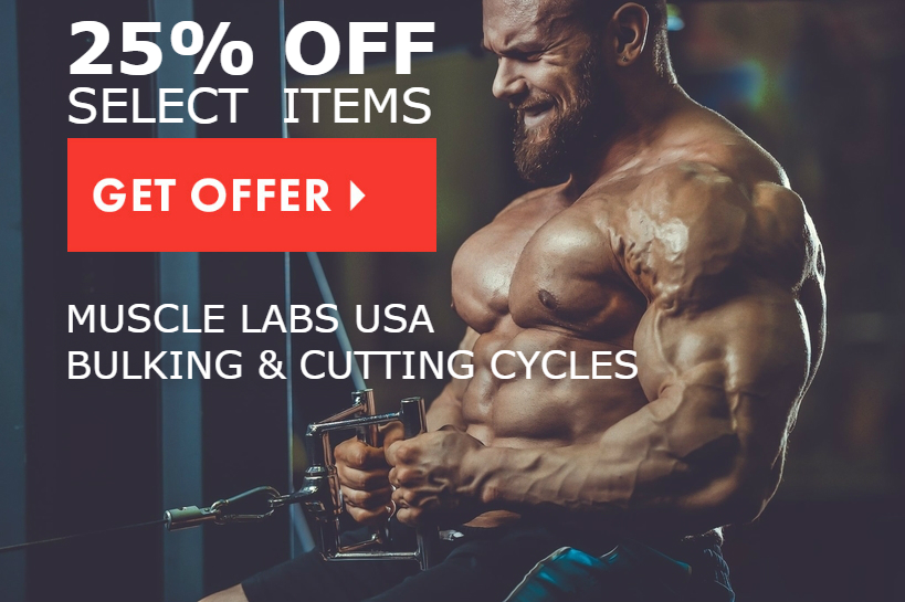 "Click the ""get offer"" button for discount on Muscle Labs USA Supplements."